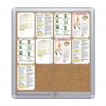 Sliding Doors Noticeboard – 12xDIN A4  (Cork)
