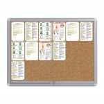 Sliding Doors Noticeboard – 18xDIN A4  (Cork)