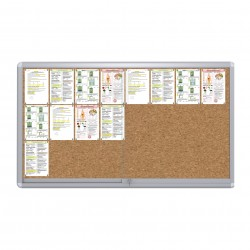 Sliding Doors Noticeboard – 24xDIN A4  (Cork)