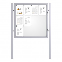 Free Standing Noticeboard Basic – 12xDIN A4