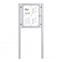 Free Standing Noticeboard Basic – 4xDIN A4