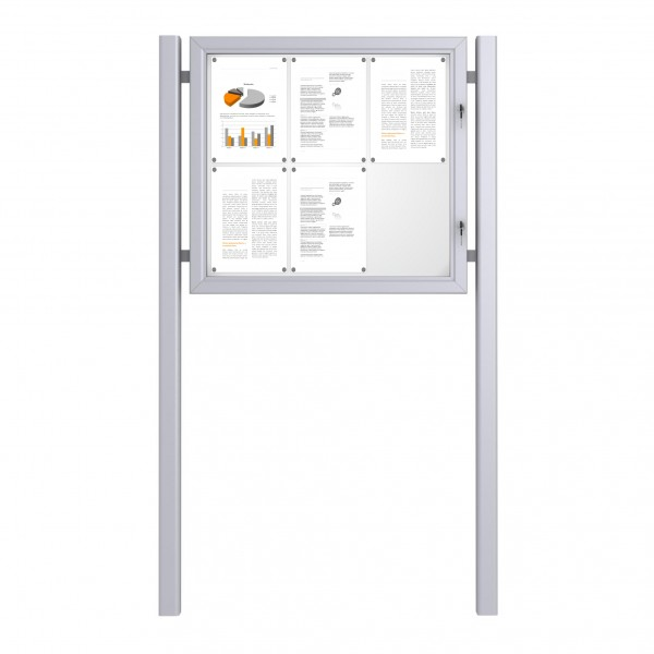 Free Standing Noticeboard Basic – 6xDIN A4