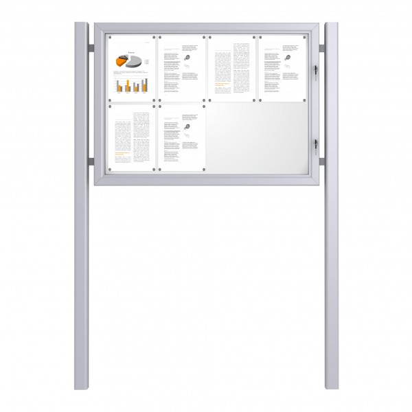 Free Standing Noticeboard Basic – 8xDIN A4