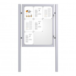 Free Standing Noticeboard Basic – 9xDIN A4
