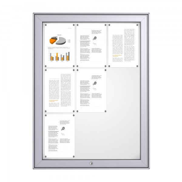 RAL Coloured Notice Board – 9xDIN A4 - MAXI