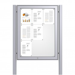 Free Standing Noticeboard Maxi Case – 9xDIN A4