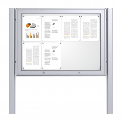Free Standing Noticeboard Maxi Case – 8xDIN A4