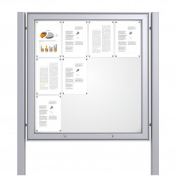 Free Standing Noticeboard Maxi Case – 12xDIN A4