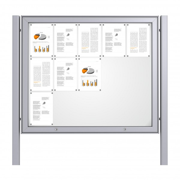 Free Standing Noticeboard Maxi Case – 15xDIN A4