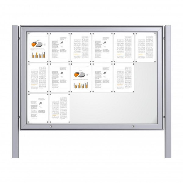 Free Standing Noticeboard Maxi Case – 18xDIN A4
