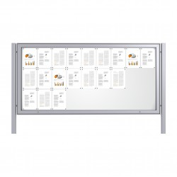 Free Standing Noticeboard Maxi Case – 27xDIN A4