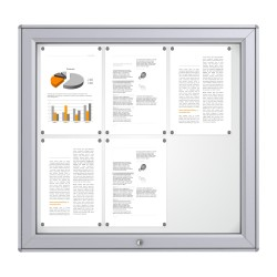 RAL Coloured Notice Board – 6xDIN A4 - MIDI