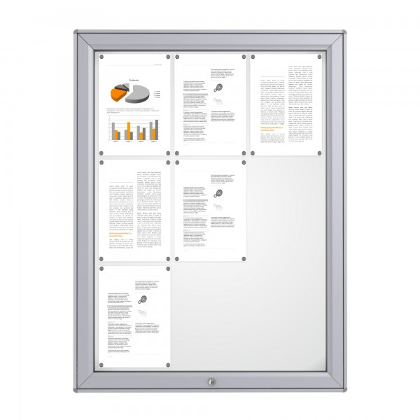 RAL Coloured Notice Board – 9xDIN A4 - MIDI