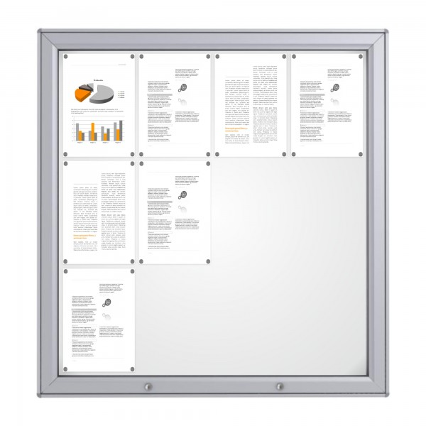 RAL Coloured Notice Board – 12xDIN A4 - MIDI
