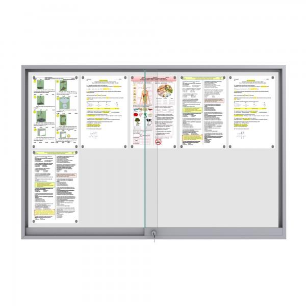Midi Sliding Doors Noticeboard – 10xDIN A4 (Mitred Corner)