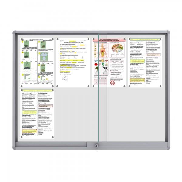 Midi Sliding Doors Noticeboard – 8xDIN A4 (Rondo Corner)