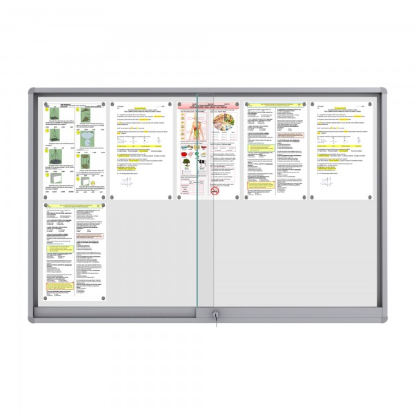 Midi Sliding Doors Noticeboard – 10xDIN A4 (Rondo Corner)