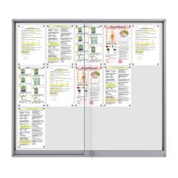 Midi Sliding Doors Noticeboard – 15xDIN A4 (Rondo Corner)