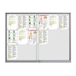Midi Sliding Doors Noticeboard – 18xDIN A4 (Rondo Corner)