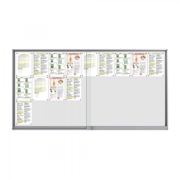 Midi Sliding Doors Noticeboard – 27xDIN A4 (Rondo Corner)