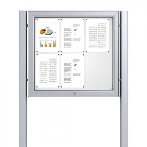 Free Standing Noticeboard Midi Case – 6xDIN A4