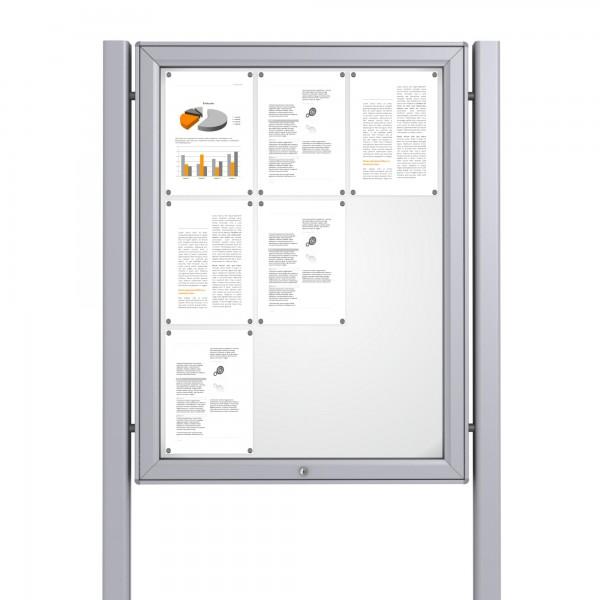 Free Standing Noticeboard Midi Case – 9xDIN A4