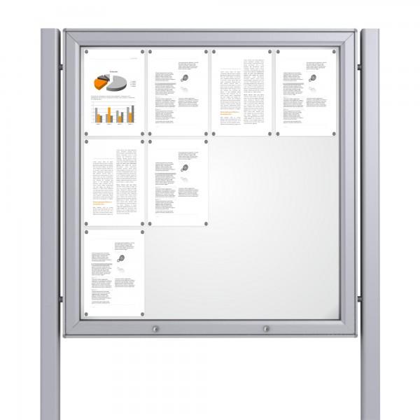 Free Standing Noticeboard Midi Case – 12xDIN A4