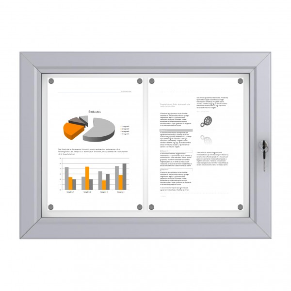 RAL Coloured Notice Board – 2xDIN A4 - BASIC