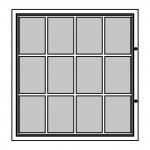 Felt Notice Board – 12xDIN A4 - BASIC