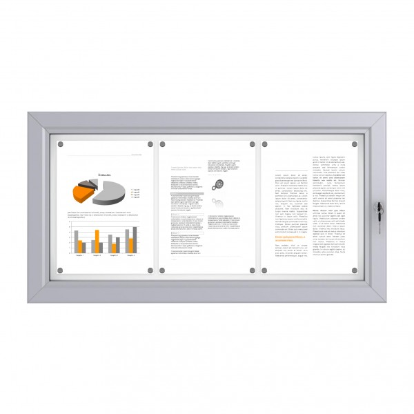 RAL Coloured Notice Board – 3xDIN A4 - BASIC