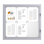 RAL Coloured Notice Board – 6xDIN A4 - BASIC