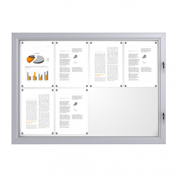 RAL Coloured Notice Board – 8xDIN A4 - BASIC