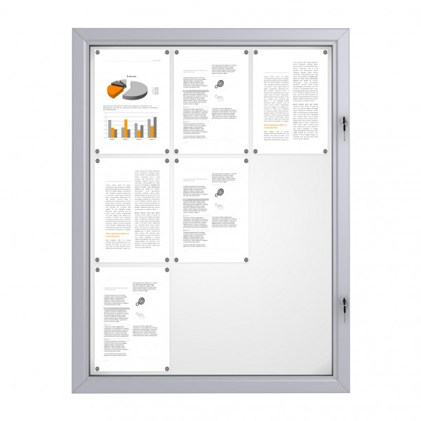 RAL Coloured Notice Board – 9xDIN A4 - BASIC