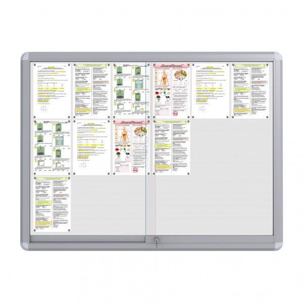 Sliding Doors Noticeboard – 18xDIN A4