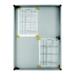 Indoor Noticeboard – 6xDIN A4 (Magnetic)
